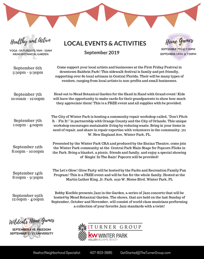Local September Events!