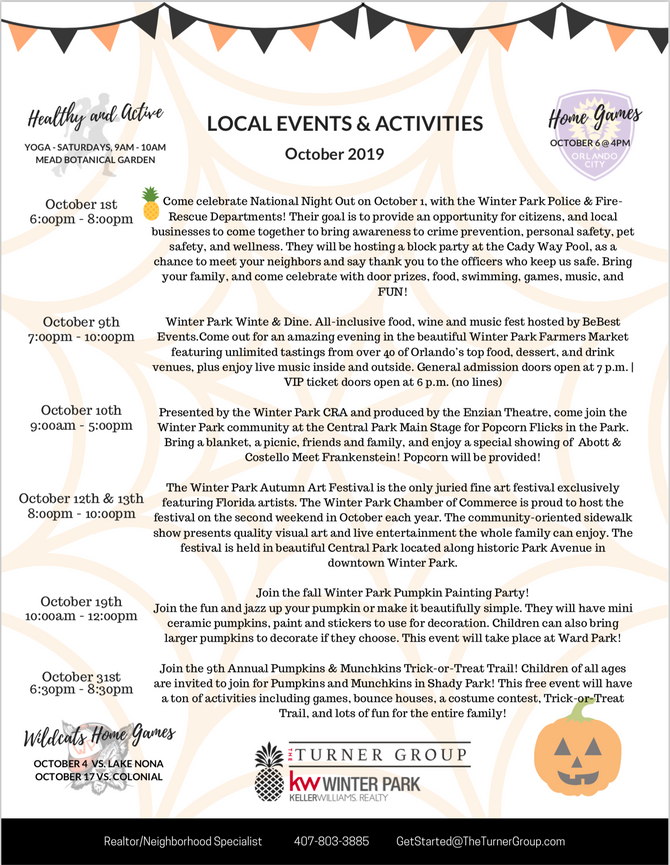 October events are here!