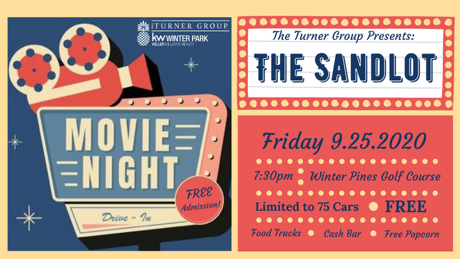 Join us at our Drive-In Movie | The Sandlot!