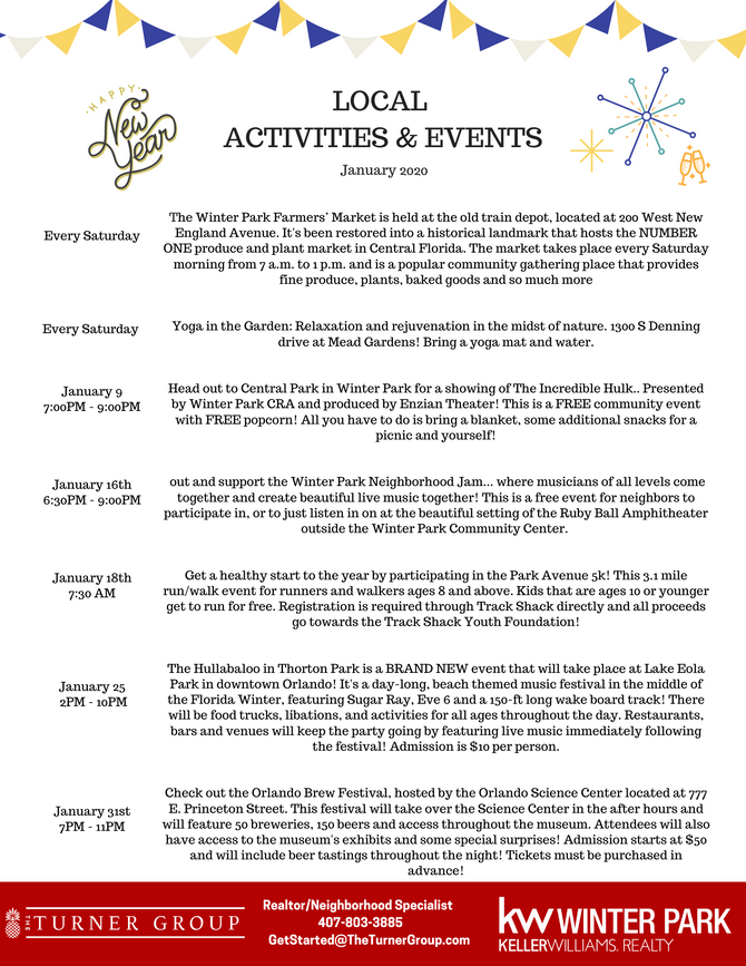 January Local Events!