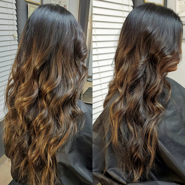 Tape in extensions and Balayage
