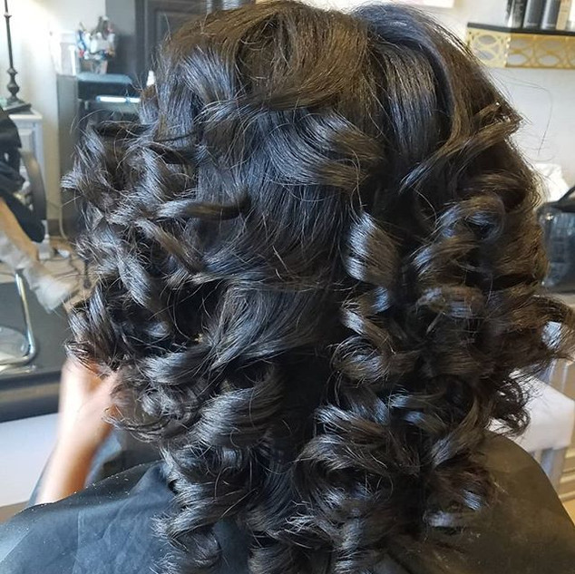 Blow out and Curl on Natural Hair