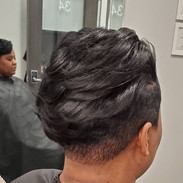 Relaxer, cut and style