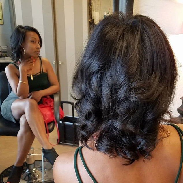 Natural Hair Cut & Blow Out