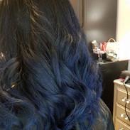Blue Balayage & Cut