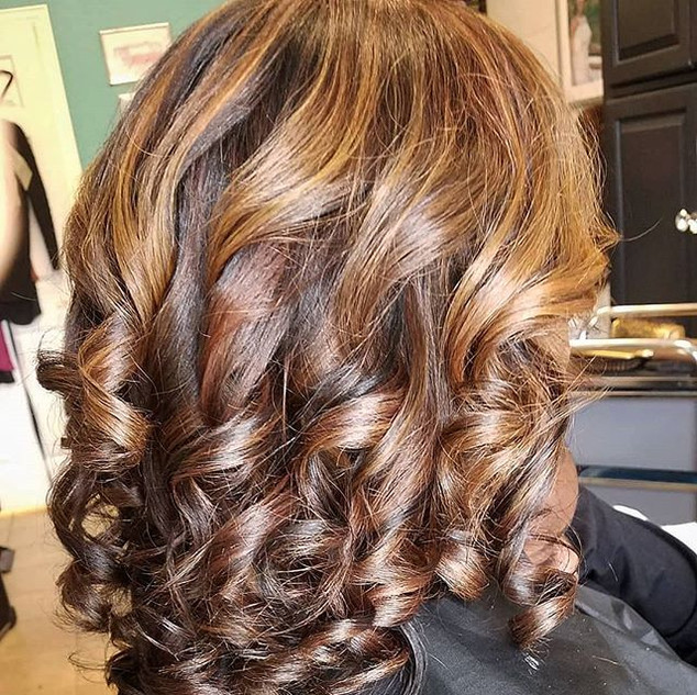 Highlights, Cut & Blow Out on Natural Hair