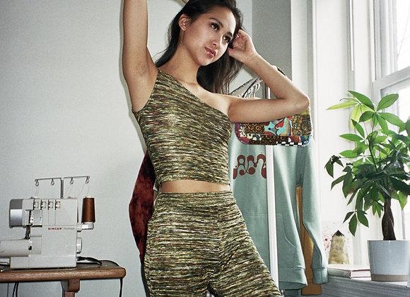 Multi-color Green Knit Tank