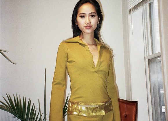 Olive Knit Dress
