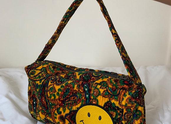 Paisley Corduroy Baguette Bag