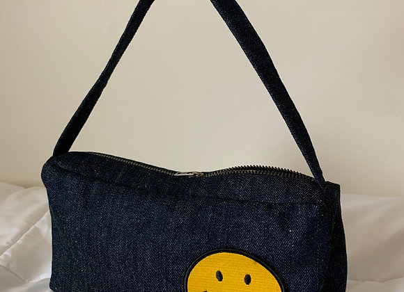 Denim Mini Baguette Bag
