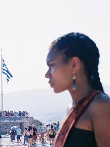 Anyezah in Athens.