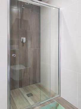 Demo home bathroom shower