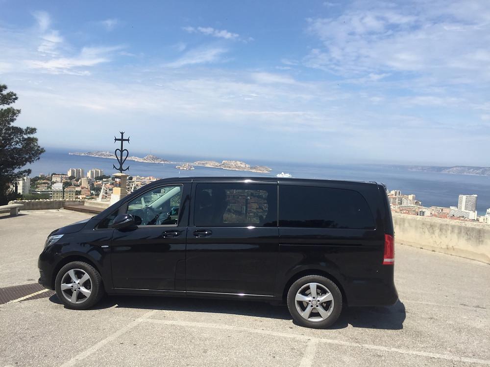 Mercedes Classe V Notre Dame de la Garde Voyages Provence chauffeur privé