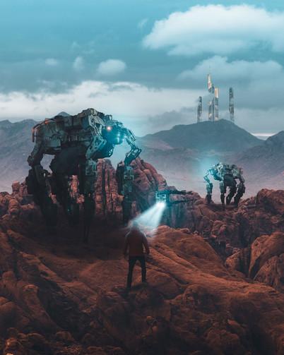 Mech Giants by Tom Kai
