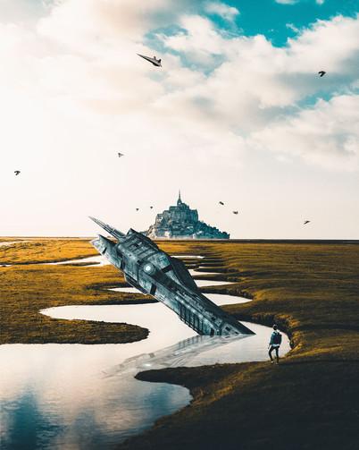 Crashed Ship by Tom Kai