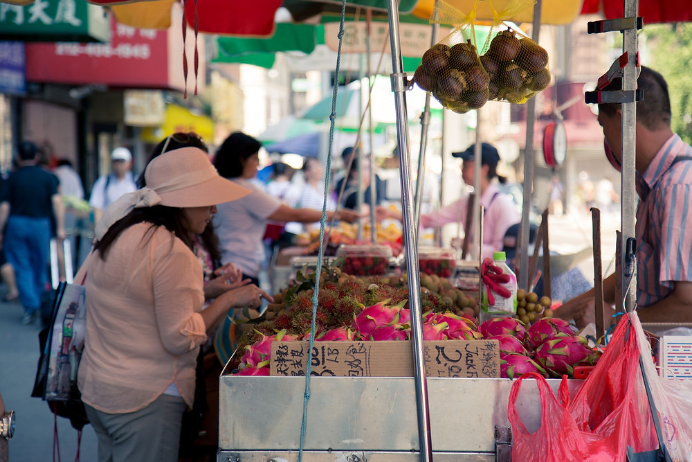 This mini market was set up off the main streets of Chinatown, not many tourists come down this way