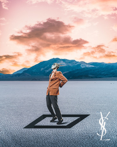 Yves Saint Laurent Bunny Man by Tom Kai