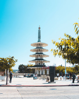 Japantown Temple in San Francisco by Tom Kai