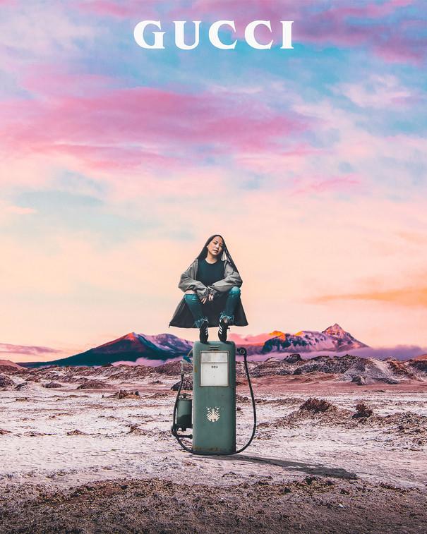 Gucci Petrol Girl by Tom Kai