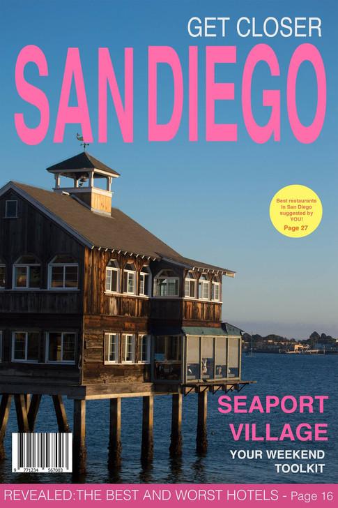 San Diego Magazine cover design