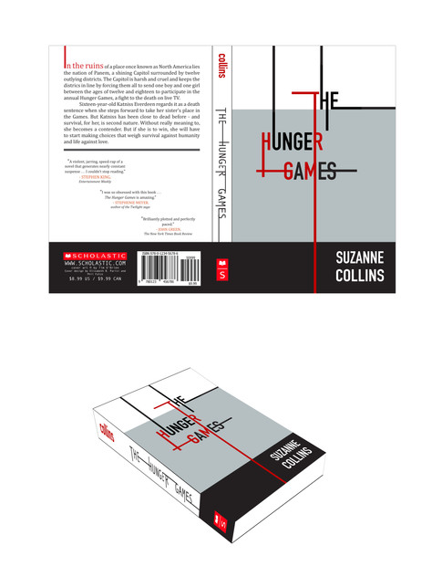 The Hunger Games book cover redesign