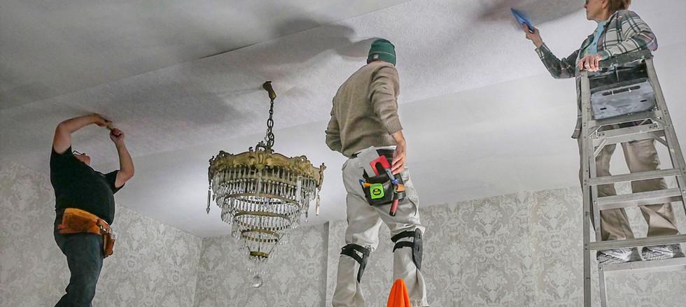 custom ceiling install