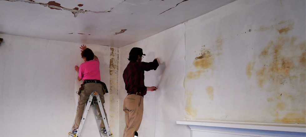prepping walls, fixing damage