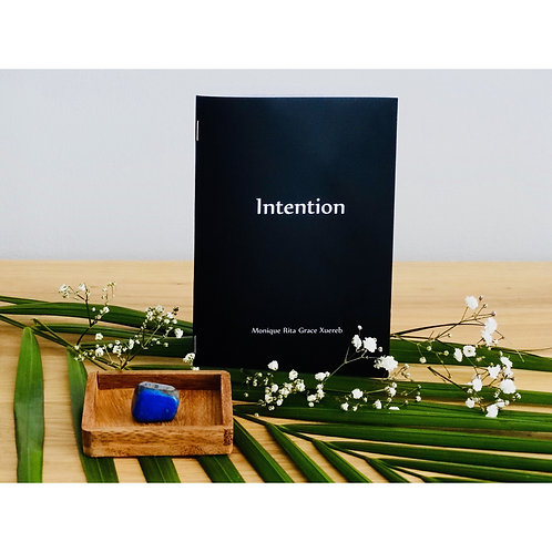 Intention Booklet with Lapis Lazuli Crystal