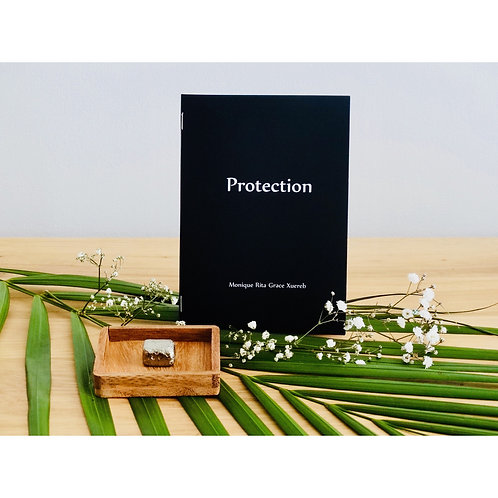 Protection Booklet with Pyrite Crystal