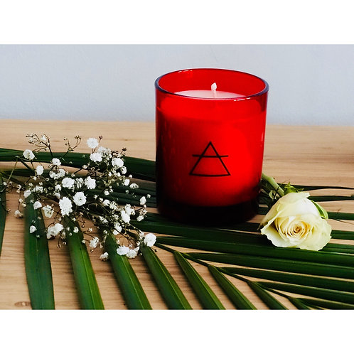 Love Candle with Rose Petal Vial