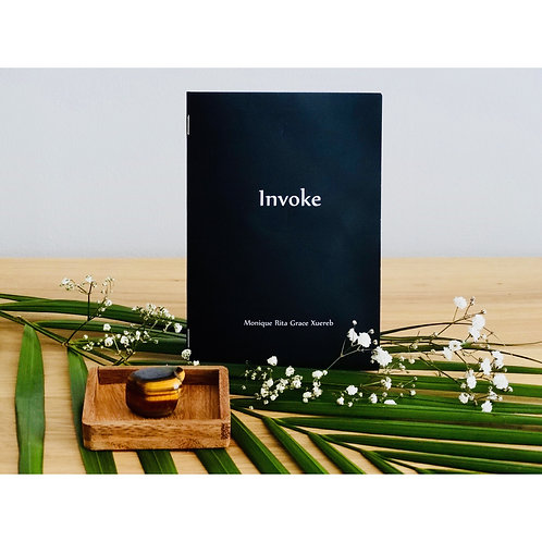 Invoke Booklet with Tiger's Eye Crystal