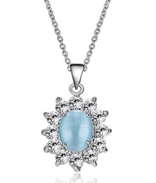 Make A Wish Card Crystal Gemstone Necklace
