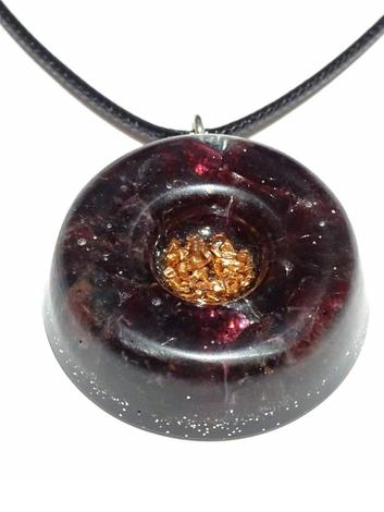 Garnet Quartz Healing Stones Orgonite EMF Neutralizer Copper Core Orgone Collection