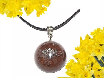 Dome Raw Crystal Orgonite EMF Neutralizer Bumblebee Orgone