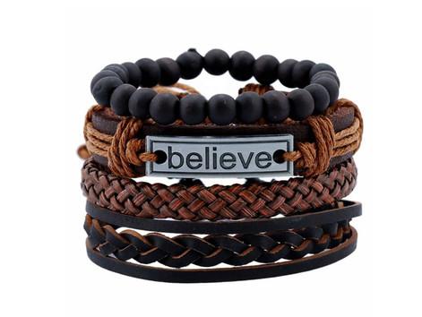 Believe Multi Layer Bead 4 Piece Living in Faith Bracelet