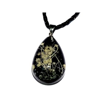 Teardrop Dark Pendant Necklace