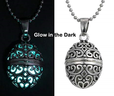 Secret Compartment Fun Glow In The Dark Necklace Steampunk Hollow Pendant