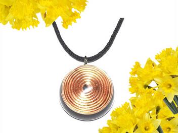Spiral Copper Swirl Raw Crushed Quartz Orgonite EMF Neutralizer