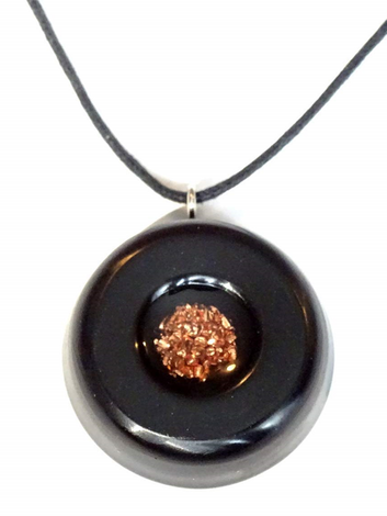 Solid Power Orgone Black With Copper Core Infused With Raw Crushed Quartz Orgonite EMF Neutralizer