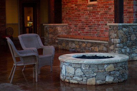 Custom Fire Pits & Fireplaces by Red Valley Landscape & Construction in The Hills, Texas