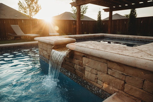 Custom Swimming Pools, Spas, and Water Features by Red Valley Landscape & Construction located in Austin, Texas