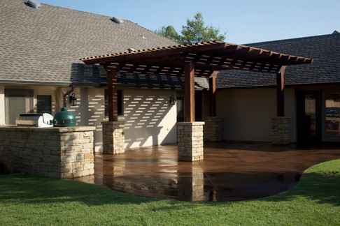 Custom Patios & Pavers by Red Valley Landscape & Construction in Briarcliff, Texas