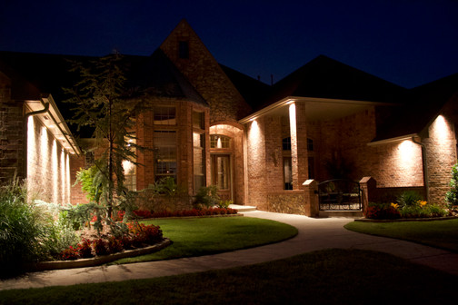 Landscape Lighting by Red Valley Landscape & Construction in OKC Metro