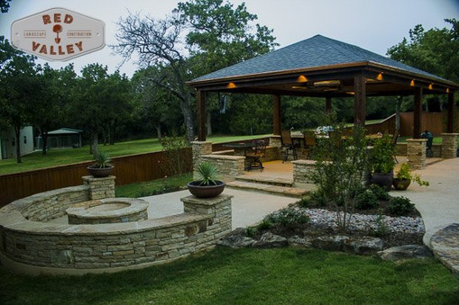 Custom Stonework & Masonry by Red Valley Landscape & Construction in Briarcliff, Texas