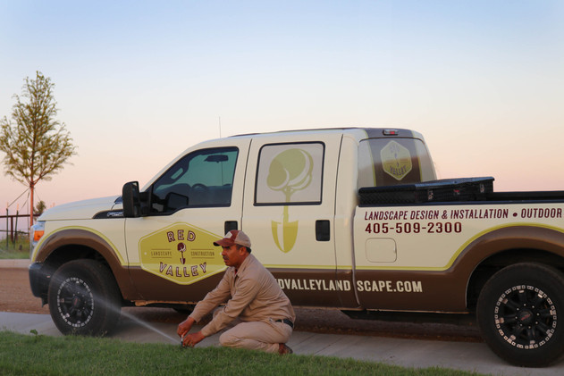 Commercial Irrigation & Drainage by Red Valley Landscape & Construction in Edmond, Ok