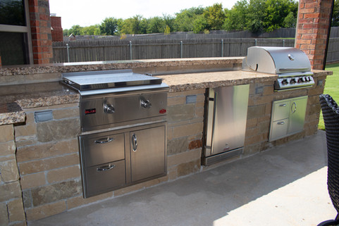 Custom Outdoor Kitchen by Red Valley Landscape & Construction in Cedar Park, Texas