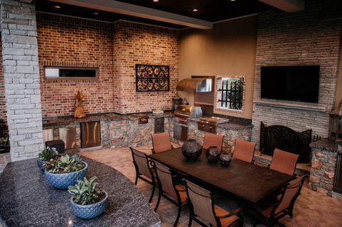 Custom Outdoor Kitchen by Red Valley Landscape & Construction in West Lake Hills, Texas