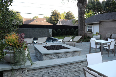 Custom Fire Pits & Fireplaces by Red Valley Landscape & Construction in OKC, Ok