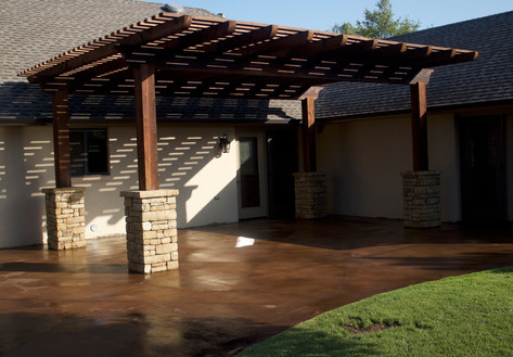 Custom Arbors & Pavilions by Red Valley Landscape & Construction in Moore, Ok