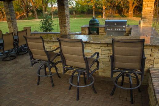 Custom Outdoor Kitchen by Red Valley Landscape & Construction in Round Rock, Texas